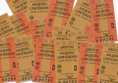 Tickets for a special train between Aalborg and Limfjorden halt